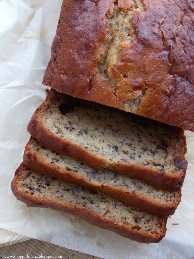 Chocolate Chip Banana Bread with Greek Yogurt