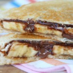 Grilled Nutella, PB and Banana Sandwich