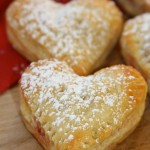 Heart shaped puff pastry pockets