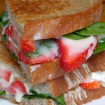 Grilled Brie, Spinach & Strawberry Sandwich
