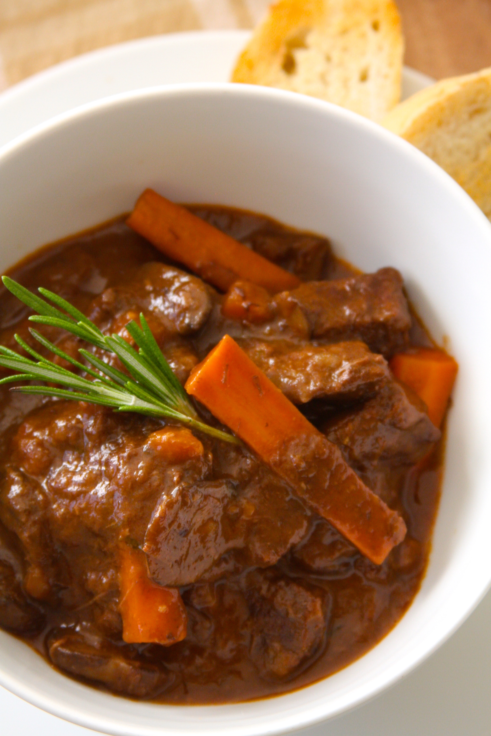 Beef Stew with Roasted Garlic