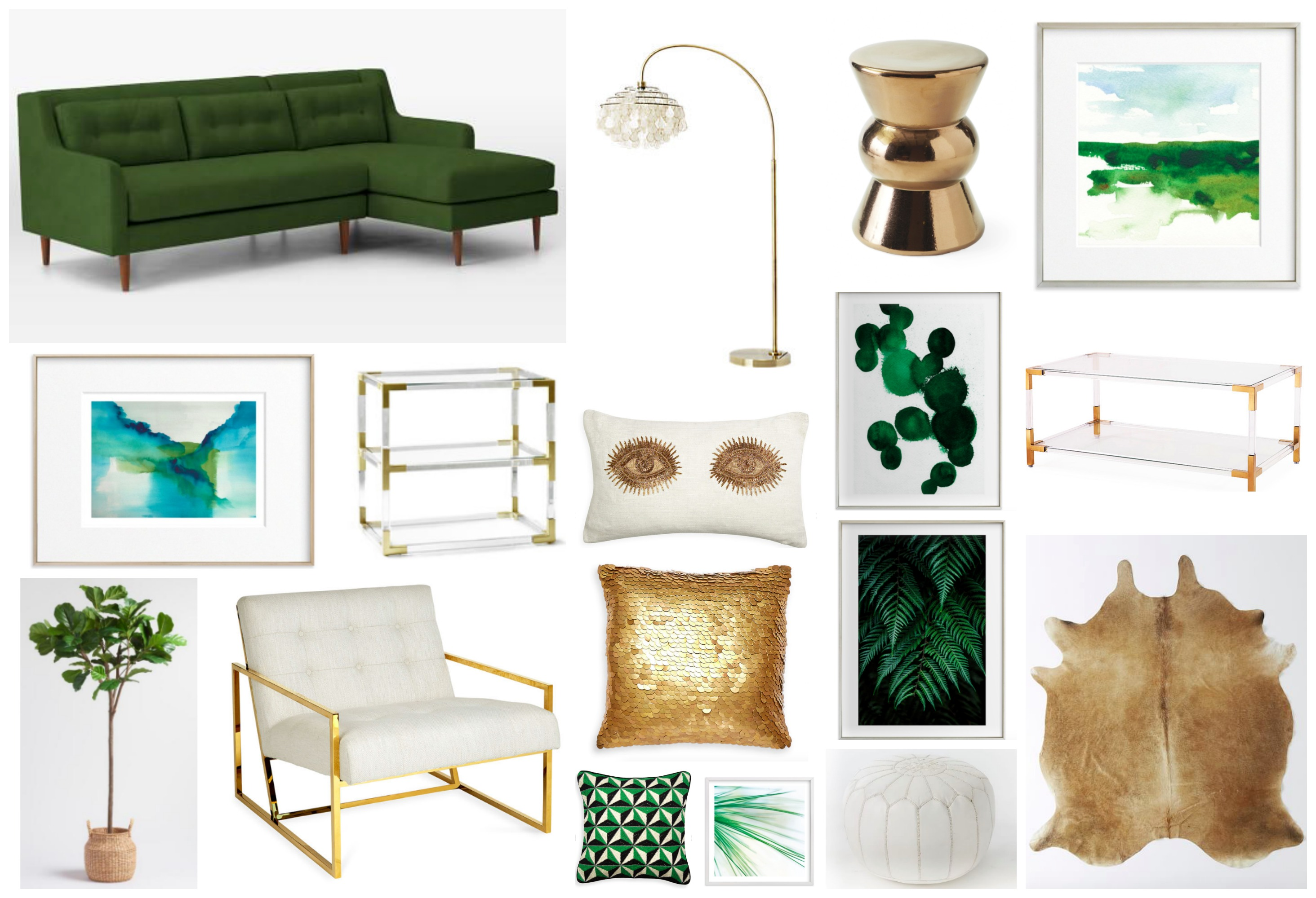 Dramatic Greens - Living Room