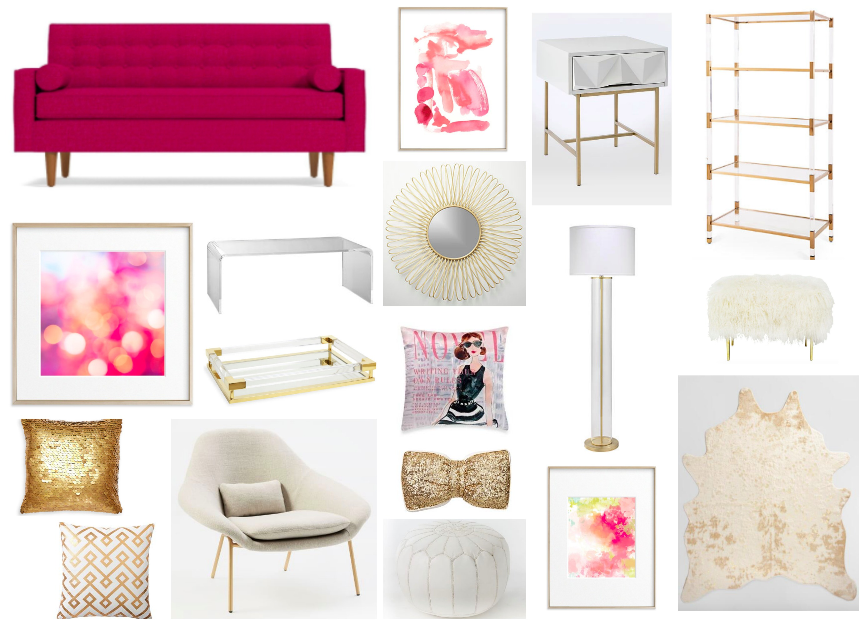 Glam Pinks - Living Room