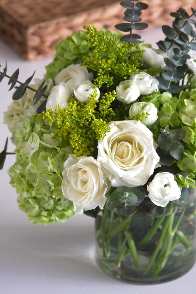 Green & White Flower Arrangement