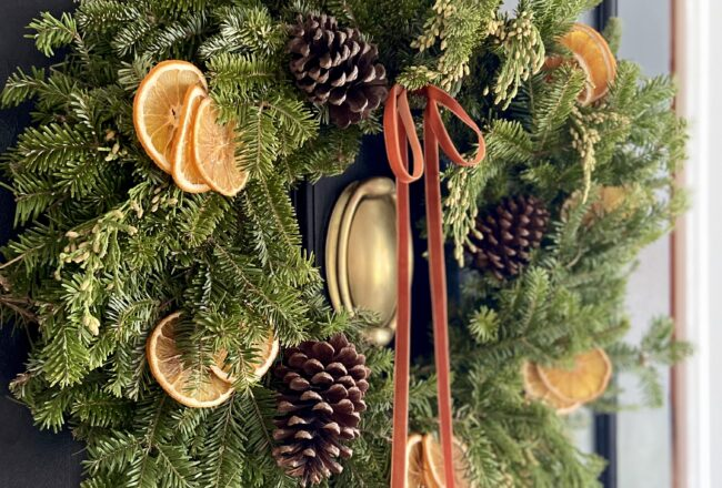 Christmas Wreath with Dried Oranges